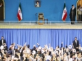 همخوانی مردم آذربایجان شرقی در ابتدای دیدار با رهبر انقلاب - Farsi