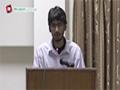 [Seminar] Manqabat : Br. Mehdi - Danishgah Imam Sadiq, Karachi - 08 March 2015 - Urdu
