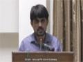 [Seminar] Speech : Br. Meesum - Imam Zain ul Abideen ki Siyasi Zindagi - Danishgah Imam Sadiq, Karachi - Urdu