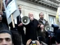 George Galloway addressing the protest in London for Gaza - English