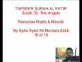 10-Sura Al-Fatir- By Agha Ali Murtaza Zaidi-Urdu